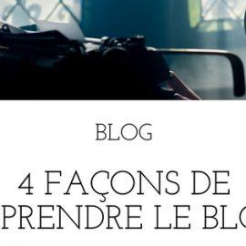 4 façons de reprendre le blog avec de l'écriture et de l'autoédition