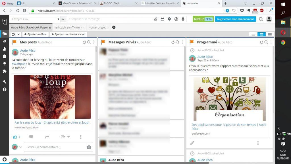 Hootsuite pour gérer ses réseaux sociaux