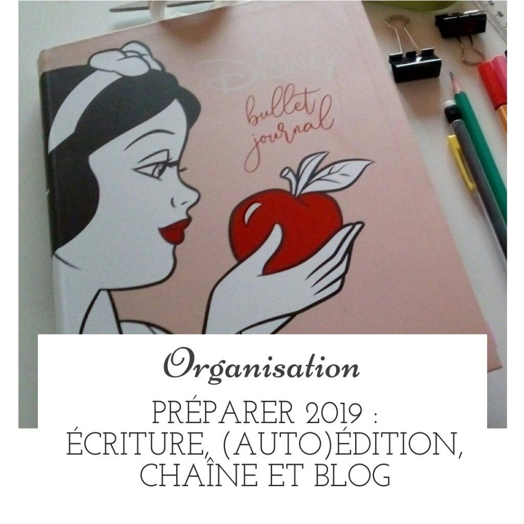 Préparer 2019 : écriture, (auto)édition, chaîne et blog