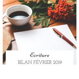 Bilan écriture du mois de février 2019