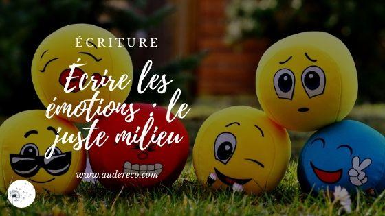 Écrire les émotions | Aude Réco