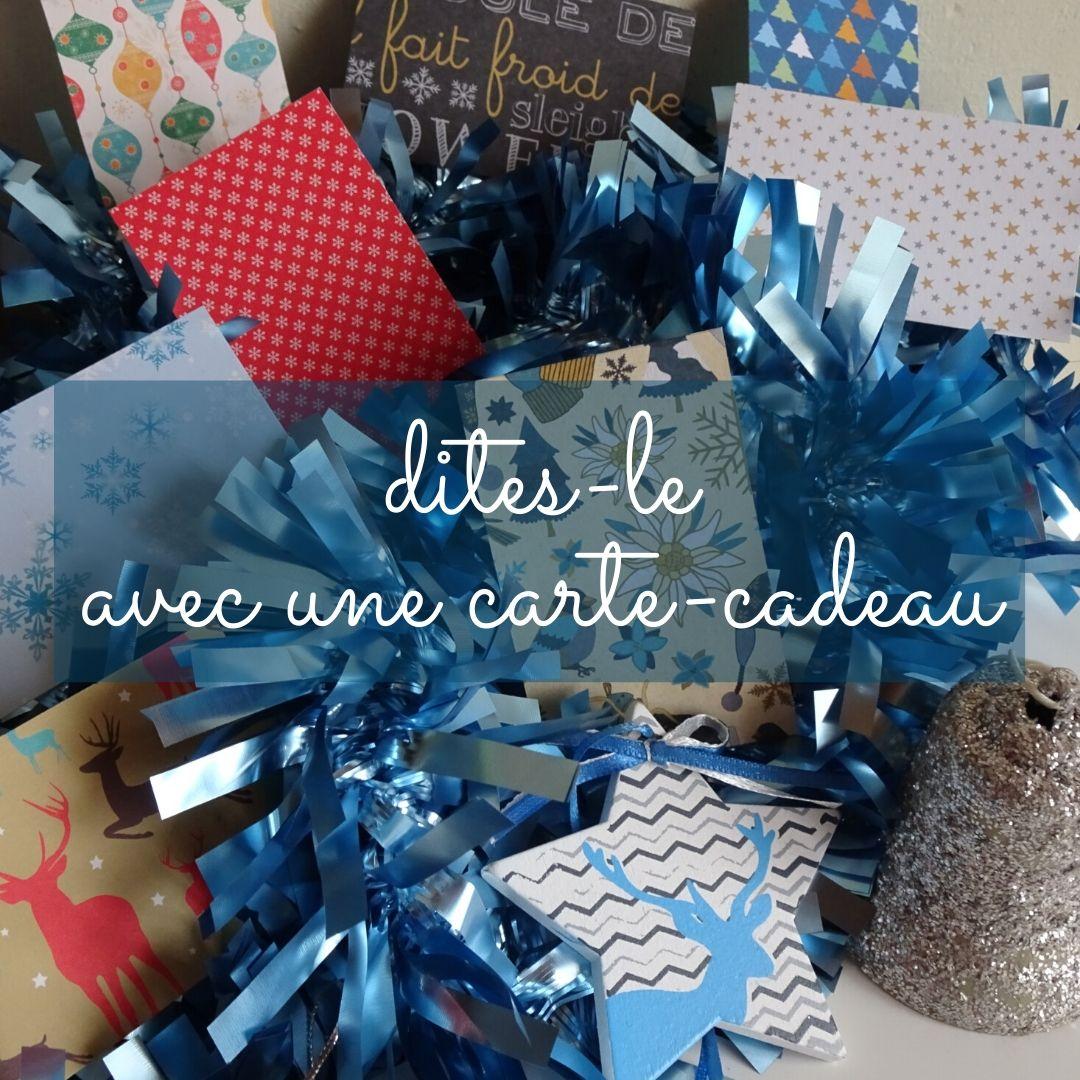 Dites-le avec une carte cadeau | Aude Réco