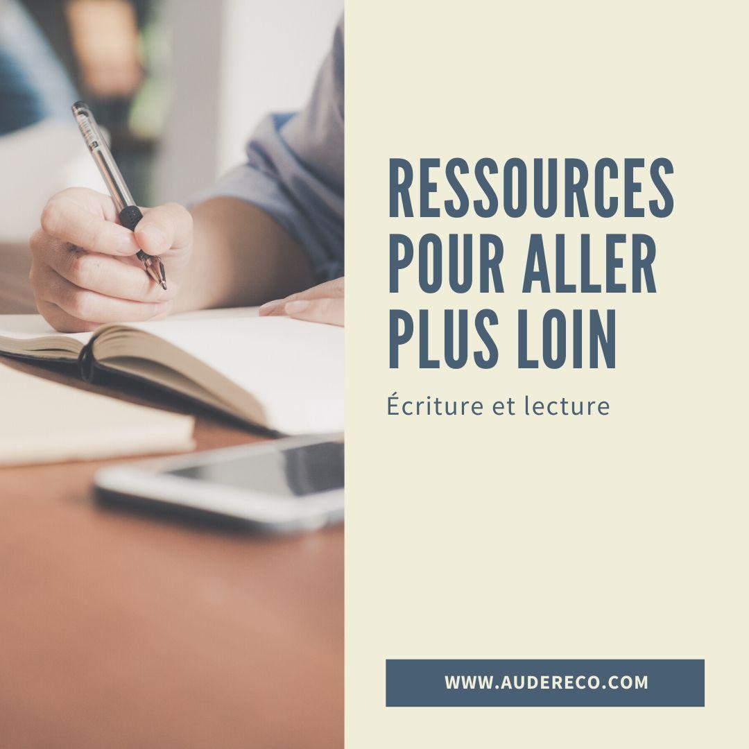 Ressources pour aller plus loin | Aude Réco