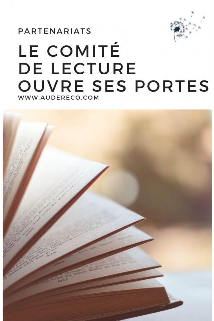Comité de lecture 2020 Pinterest | Aude Réco