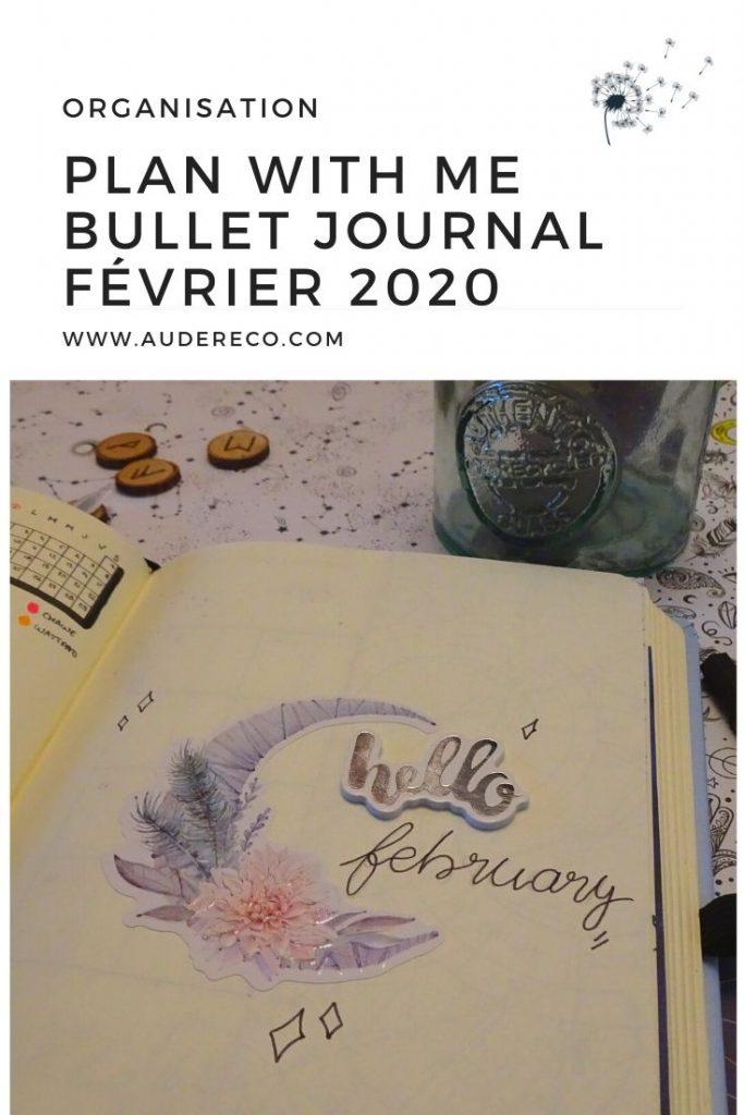 Plan With Me : Bullet Journal de février 2020 | Aude Réco