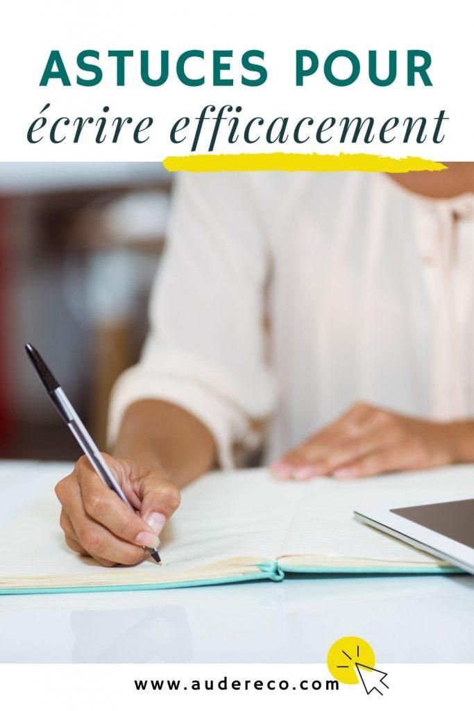 Astuces pour écrire efficacement